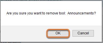 Remove tool confirmation