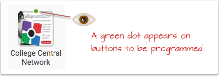Green tag in the corners show uninvestigated buttons