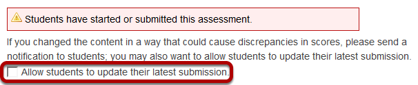 Allow Students to update submission.