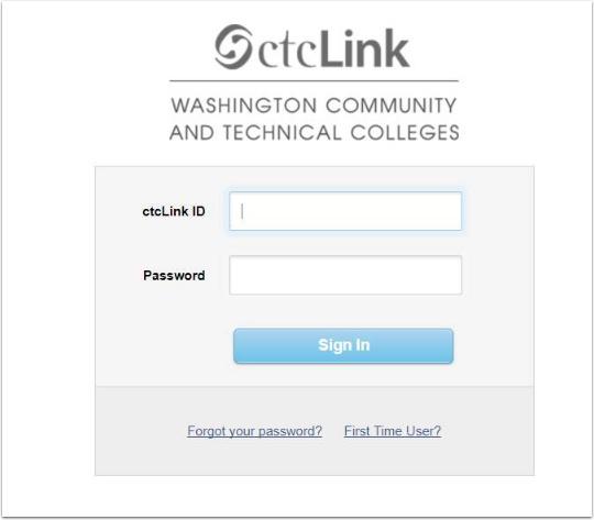 ctcLlink Login page