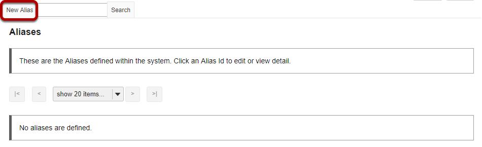 Click New Alias.