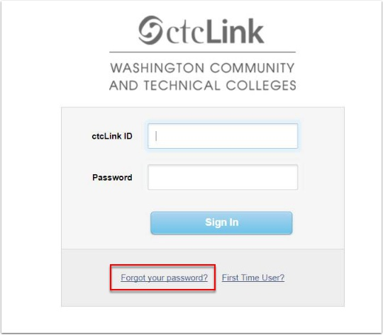 System Sign In page