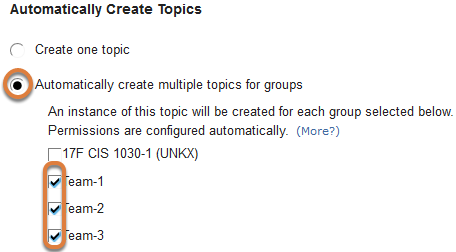Forums automatic group topics