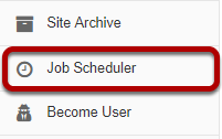 Go to the Job Scheduler tool.