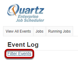 Click Filter Events.