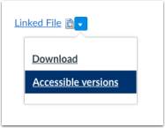 screenshot to show how to select the accessible version from drop-down arrow.