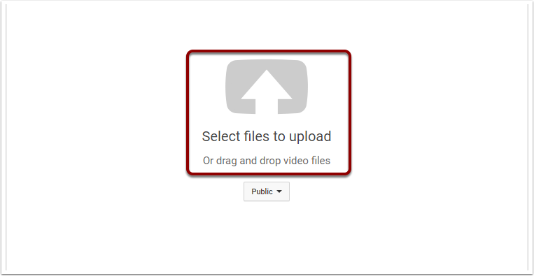 Youtube upload screen