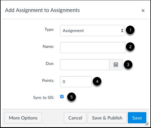 Enter Assignment Details
