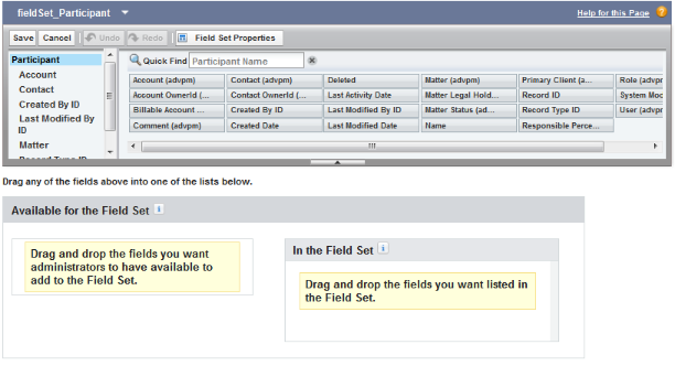 fieldSet custom fields add-on page