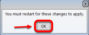 3) Click OK, now exit and restart TC2000.