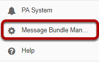 Go to Message Bundle Manager.