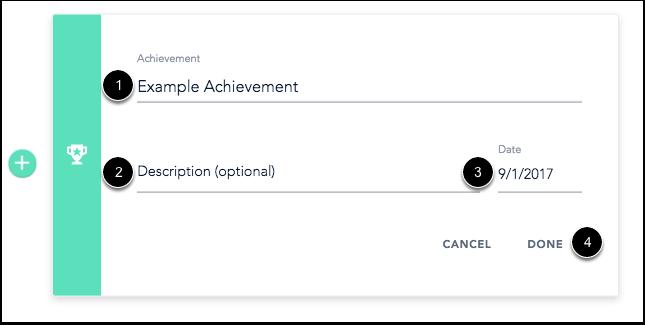 Add Achievement Details