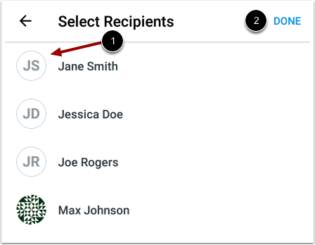 Select Recipients