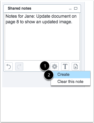 Create Additional Shared Notes