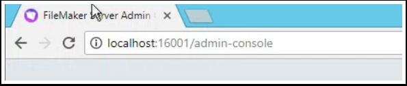 Admin Console Address