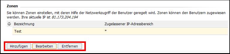 IP-Zonen verwalten