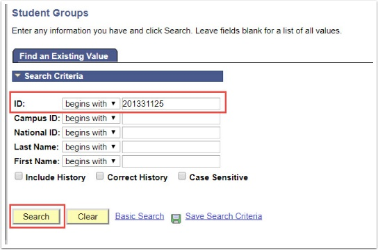 Student Groups page