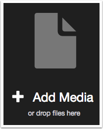 VoiceThread + Add Media or Drop Files Here button