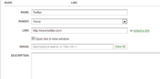 Editing the Social Media Links (Step 3 of 3)