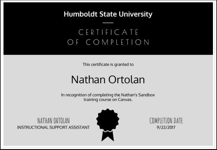 Google Docs Example Certificate