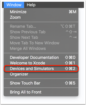 Xcode Devices
