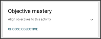 Image of the objective mastery card.