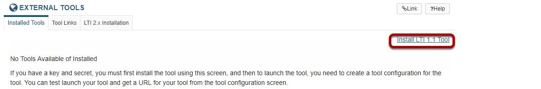Install LTI 1.1 tool.