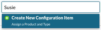 Create New Configuration Item