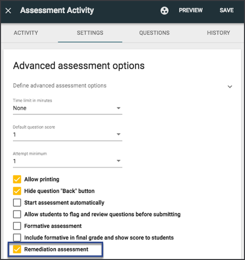 Create the assessment