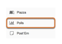 Accessing the Polls tool