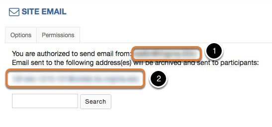 Locate email address for sending messages to the site email.