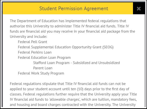 Student Permission Agreement