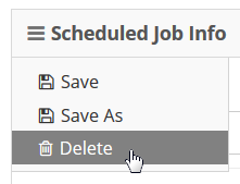 From the Info sandwich select Delete.