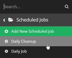 Select which Job you wish to edit.