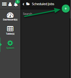 Open the 'Add New Scheduled Job' modal .