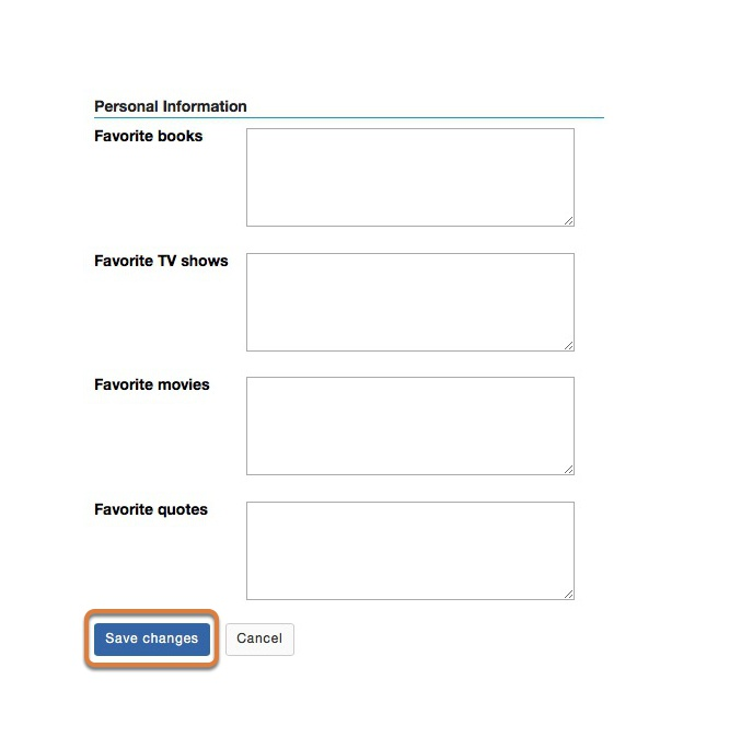 Edit Personal Information