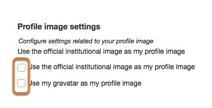 Modifying profile image settings