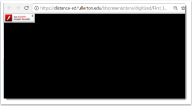 black screen within web browser