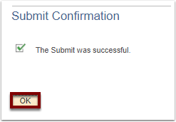 Submit Confirmation section