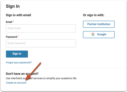 """Sign in if you already have an account with us, or click """"Sign Up"""" to create a free Dossier account"""