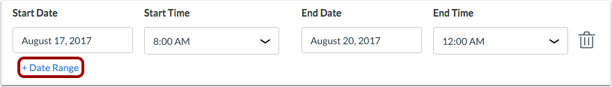 Add Date Range