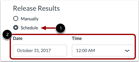 Schedule Results Release