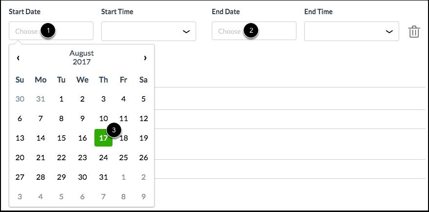 Select Date Range