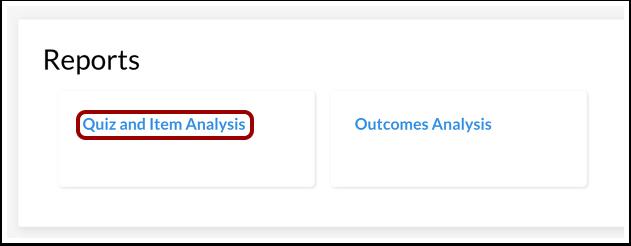 Abrir el Análisis de evaluaciones e items