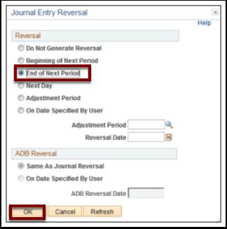 Journal Entry Reversal