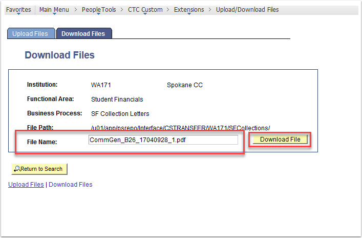 Download File page