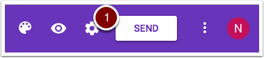 Google Form's SEND button