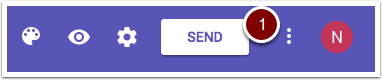 Google Forms Send button