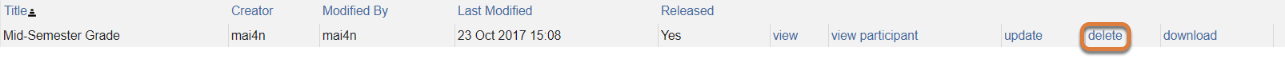 To delete the feedback, click Delete.