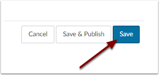 Image of Save button next to the Save and Publis button in the lower right corner of the editor page.